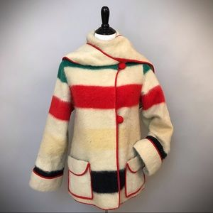 Vintage Hudson Bay Blanket Custom Made Jacket